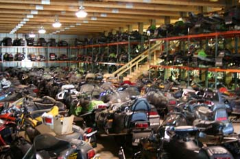 Atv dirt bike salvage yards largest and the most for Yamaha salvage yards